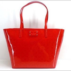 Kate Spade N.Y. Small Harmony Metro Tote Chili Red